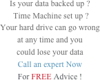 Is your data backed up ?